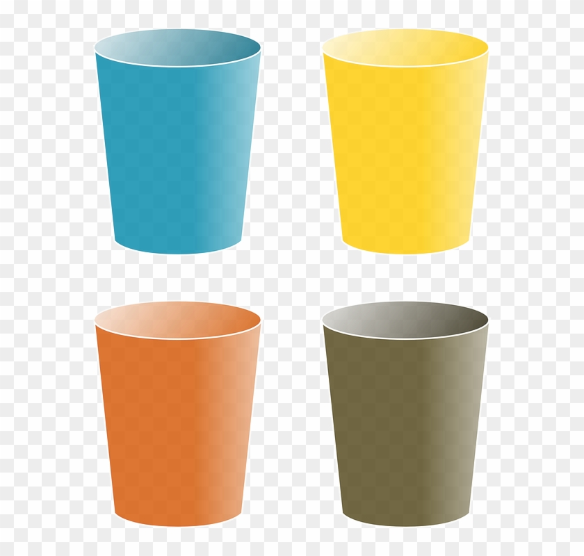 Tub Tumbler, Cup, Glass, Color, Mug, Beaker, Goblet, - Cups Clipart #196142