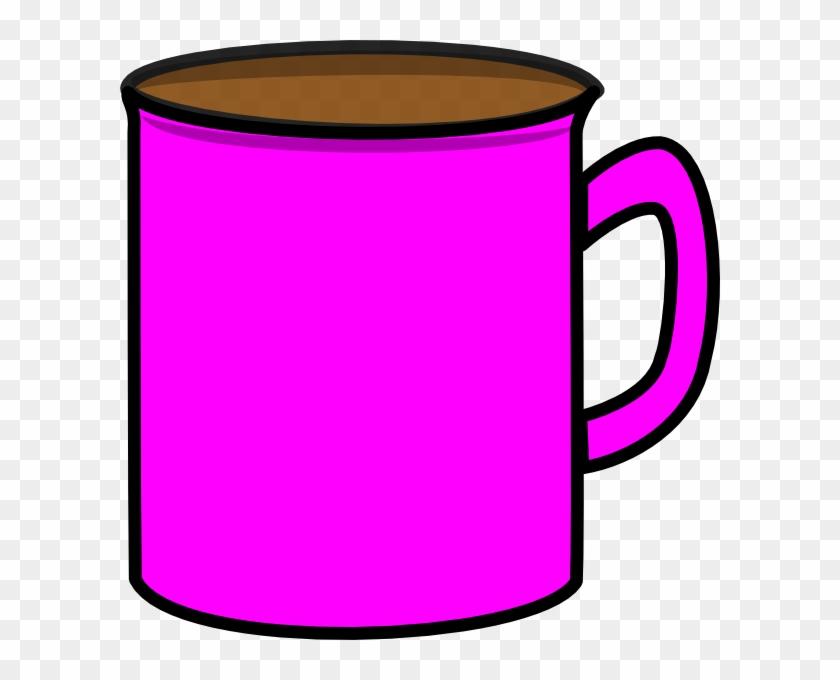 Pink Mug Clip Art At Clker - Mug En Clip Art #196177