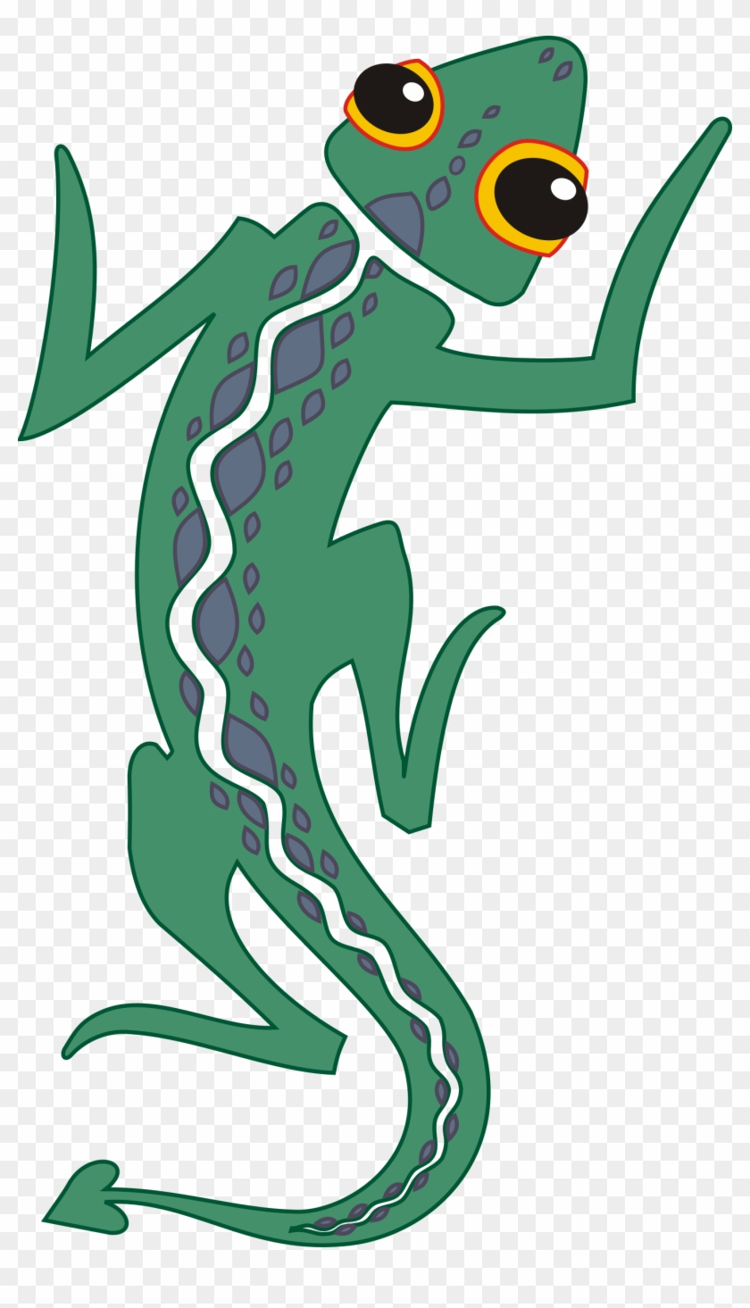 Artistic Green Lizard Clip Art - Cartoon Lizard Transparent Background #196224