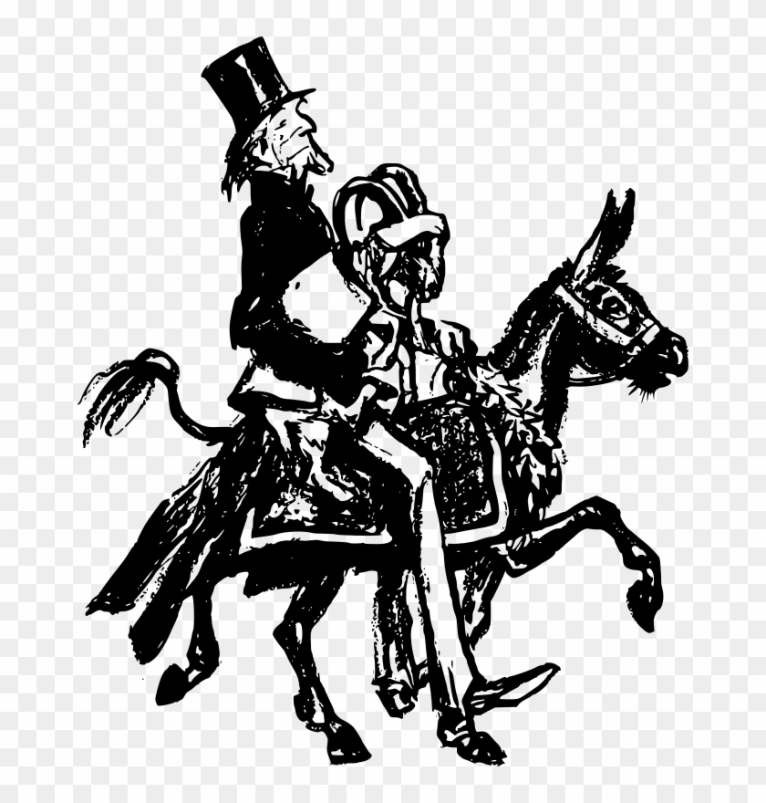 Free Man On A Donkey With A Goat - White People Riding Black People #196233