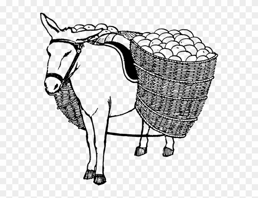 Donkey Free Png Transparent Background Images Free - Load Clipart Black And White #196254
