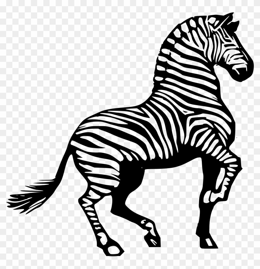 Horse Zebra Drawing Clip Art - Oil Rig Clipart #196262