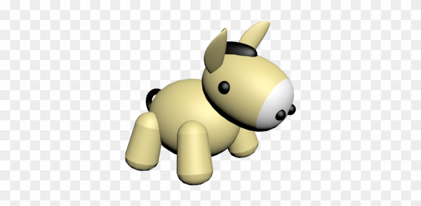 Donkey 3ds Max Model By Ovilia1024 - Cartoon #196263