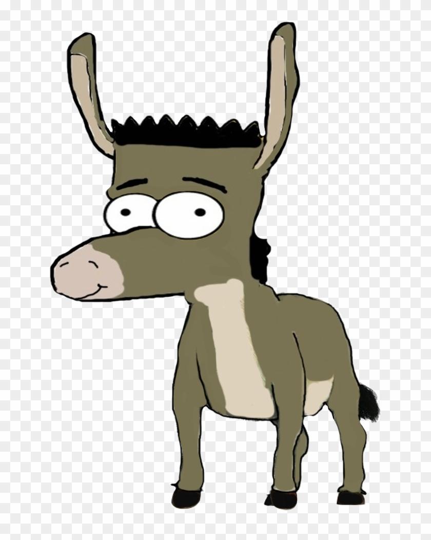 Bart Simpson As Donkey By Darthraner83 On Clipart Library - Donkey Shrek Ms Paint #196268