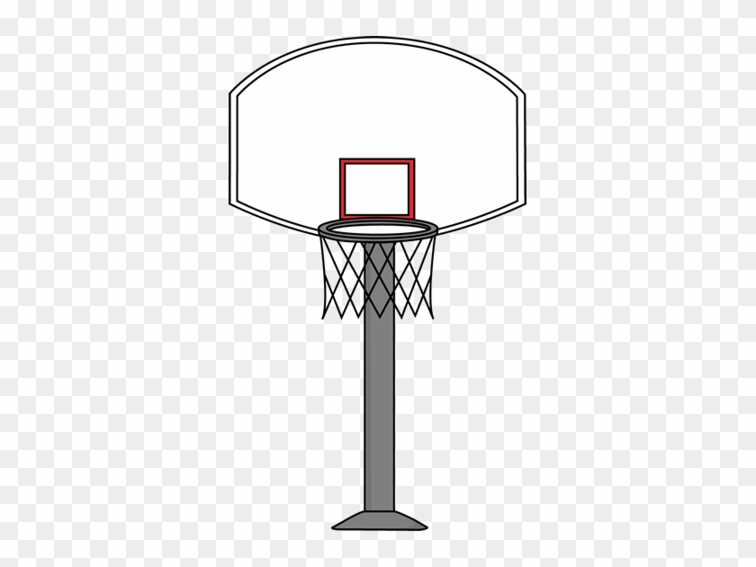 Clip Art Basketball Hoop - Basketball Hoop Clipart #196284