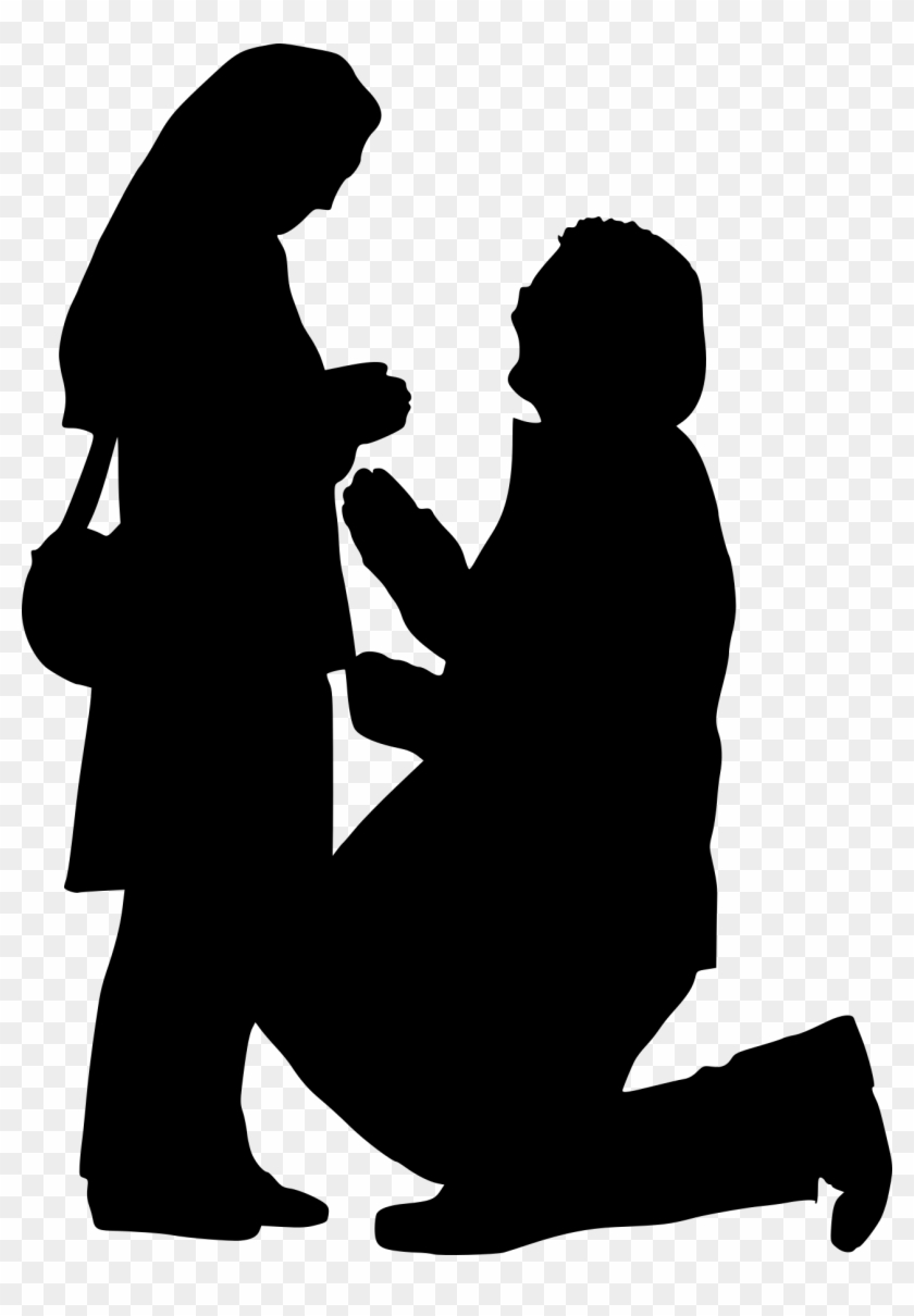 Proposal Silhouette Png - Silhouette #196321