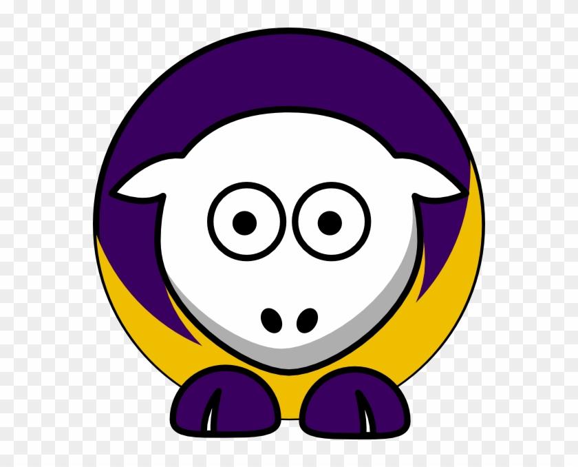 Sheep 3 Toned Minnesota Vikings Colors Clip Art - Cal State Fullerton Titans #196324