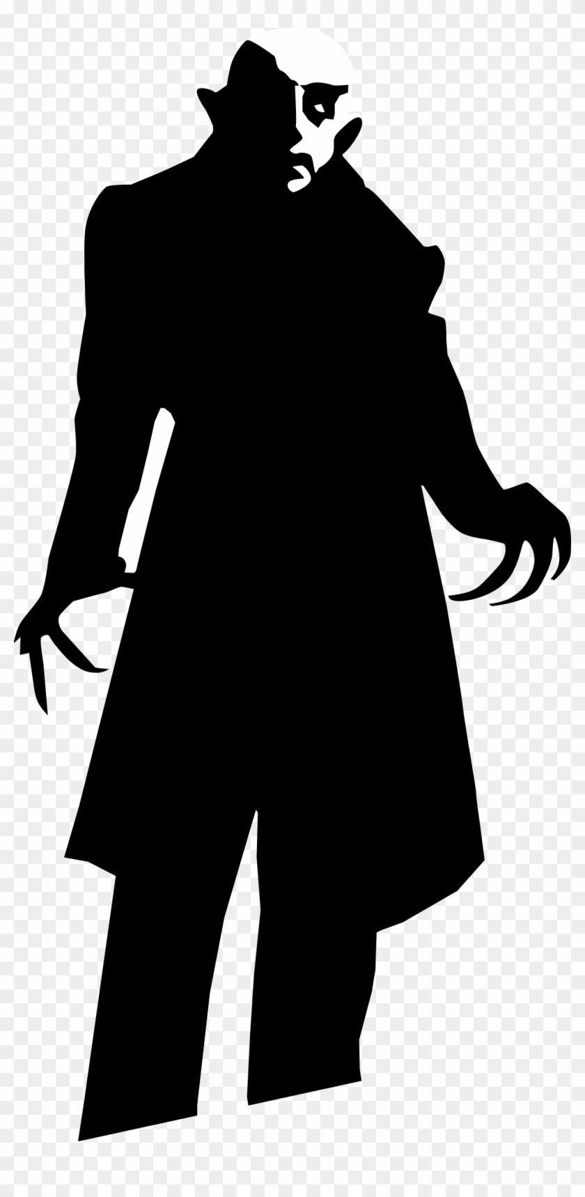Villain Man Clip Art - Dracula Silhouette #196333