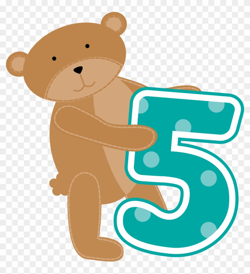 Ch - B *✿* - Bear Numbers Clipart #196343