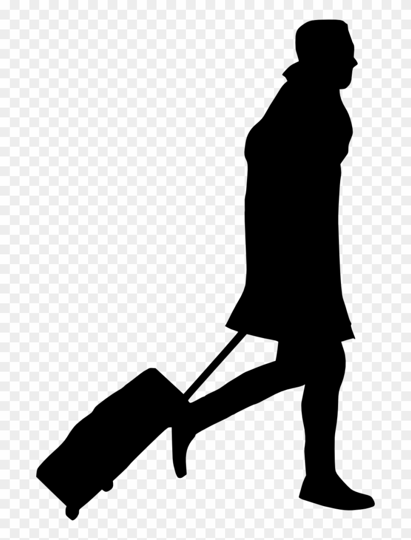 Free Png People With Luggage Silhouette Png Images - People Silhouette Png #196358