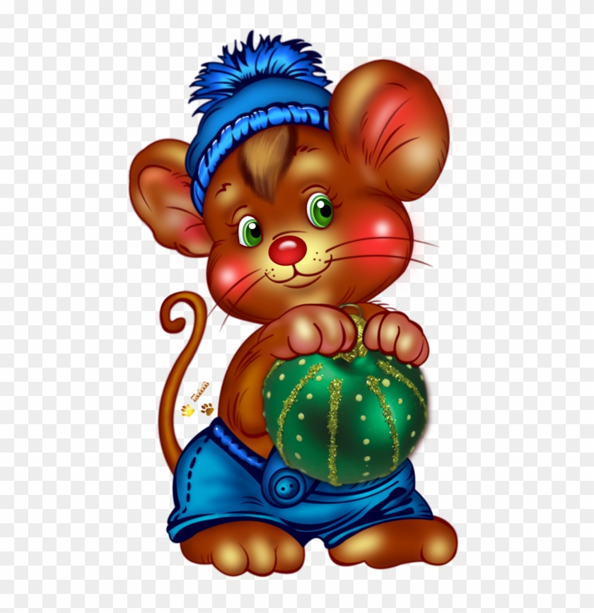 Christmas Mouse With Ornament - Happy Saturday Christmas #196386