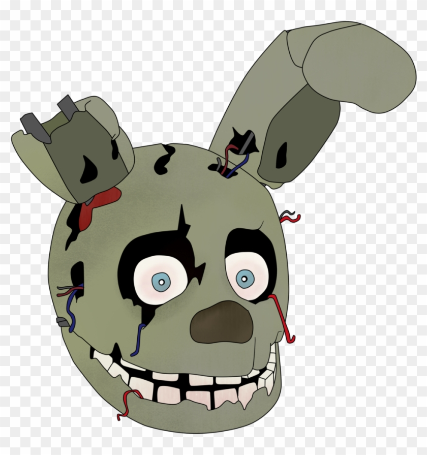 Just A Springtrap Head By Gamerboy123456 Just A Springtrap - Springtrap Head #196422