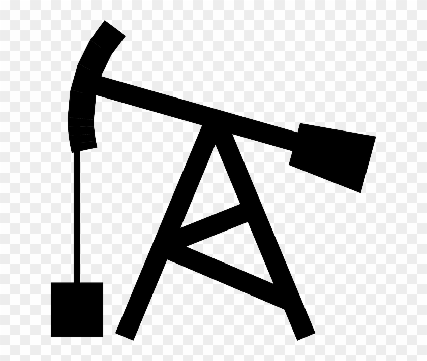 Drill, Nodding, Donkey, Gas, Well, Oil, Rig - Oil Rig Clipart #196431