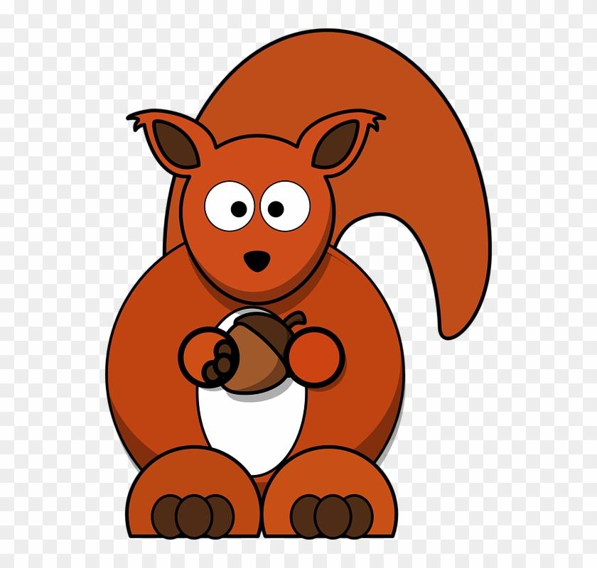 Squirrel Clipart Wild Life - Red Squirrel Clipart #196481