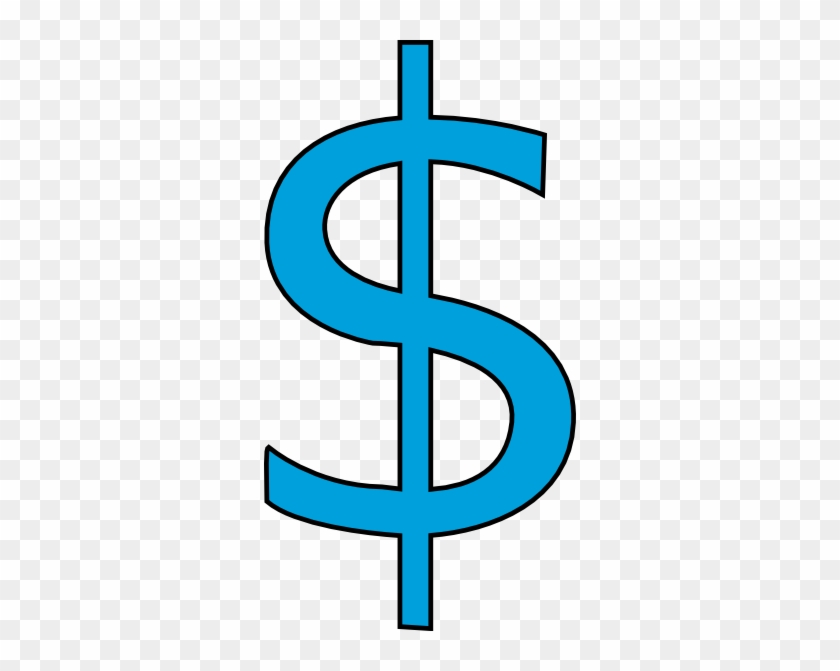 Blue Dollar Sign Clip Art At Clker Com Vector Clip - Dollar Sign Clip Art #196647