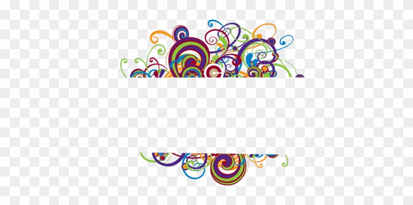 Colorful Page Borders - Colorful Swirl Border Png #196786