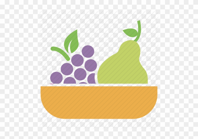 Grapes Clipart Basket - Fruit Basket Icon Png #1185432