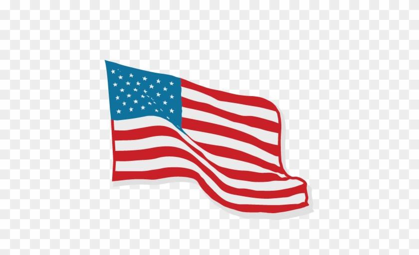 American Flag Svg Scrapbook Cut File Cute Clipart Files - Usa Cute Flag Png #1186011