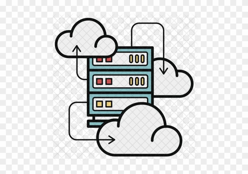 Cloud Icon - Cloud Server Icon - Free Transparent PNG