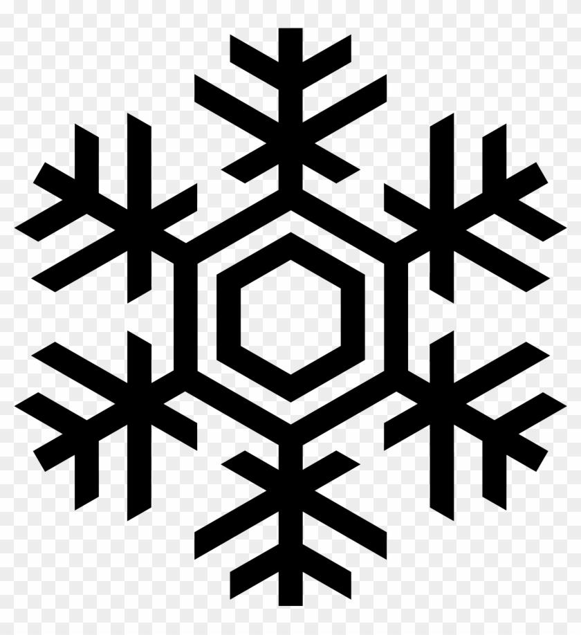 Snowflake Silhouette Clip Art At Getdrawings Com Free - Snow Flake Vector #1188810