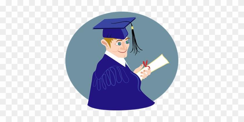 Boy Class Comic Characters Diploma Educati - Graduation Boy Png #1189066