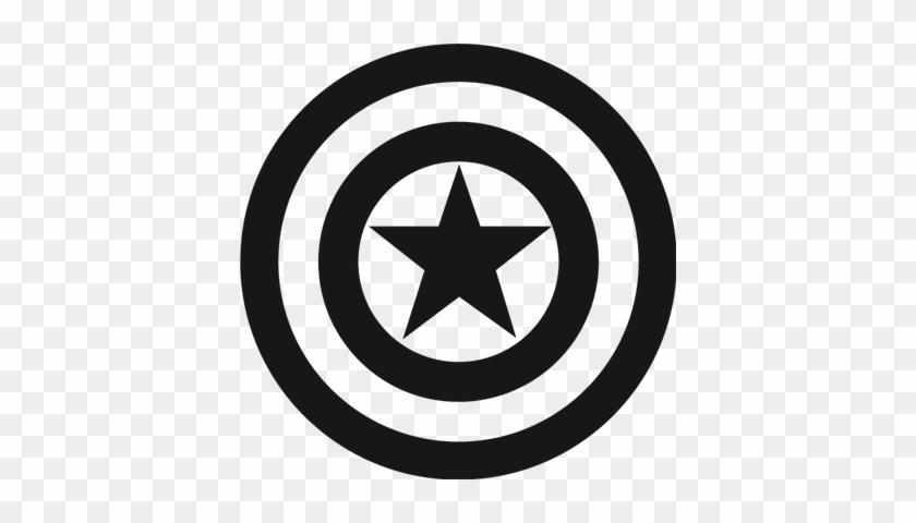 Logo De Superheroes En Blanco Y Negro Capitan America - Captain ...