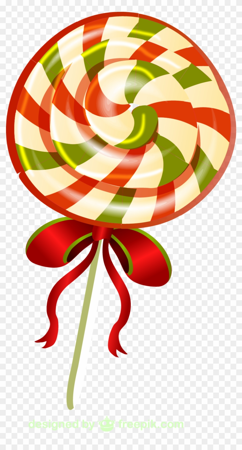 lollipop ribbon candy candy cane christmas stick candy - Christmas Ribbon Candy