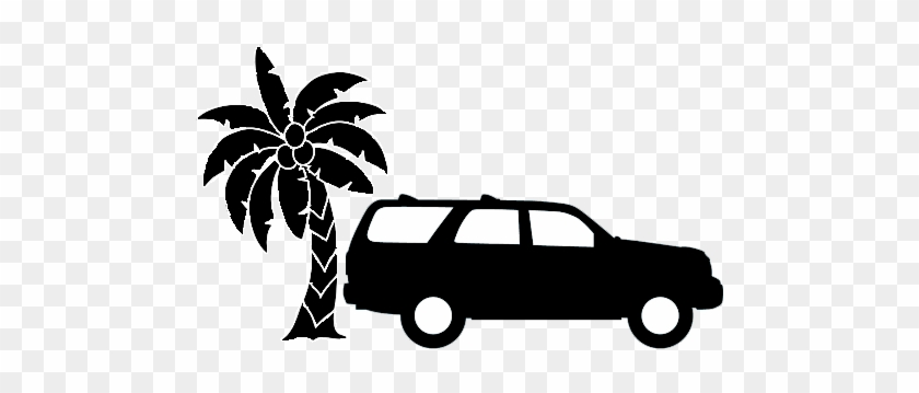 Palm Springs Car Service Shadowed - Palm Tree Clipart Black And White #1190342