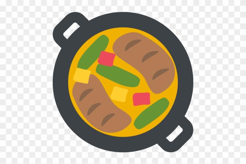 Shallow Pan Of Food Emoji Vector Icon Free Download - Apparel Printing Emoji Shallow Pan Of Food Lunch Bag #1190633