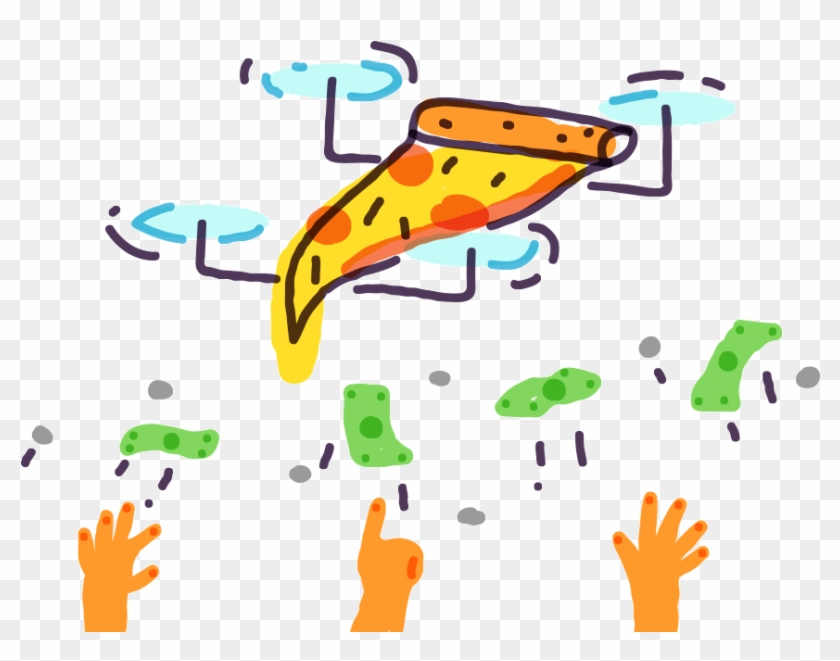 The Rise Of Pizza Drones - Pizza Drone Gif #1190723