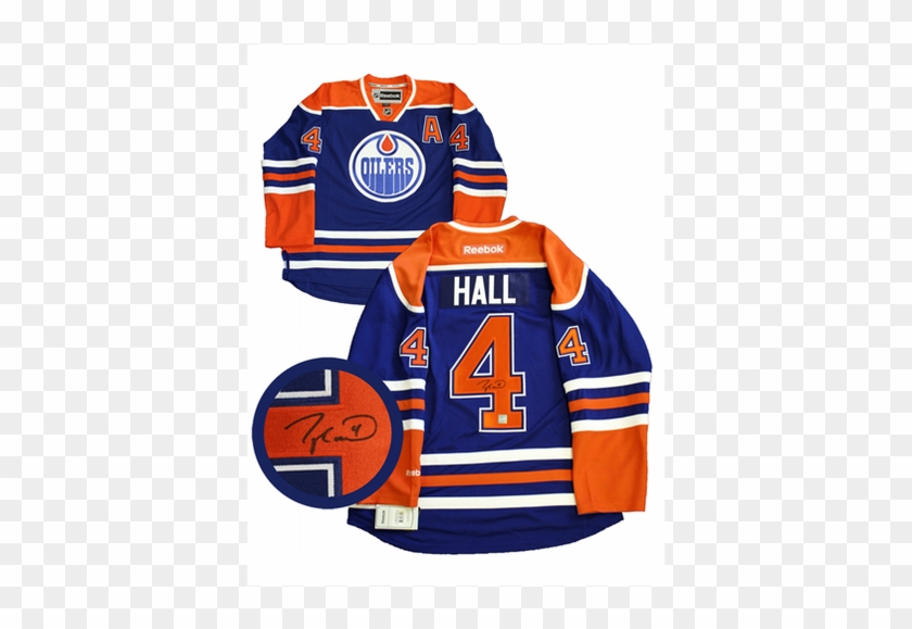 new product 4d96a 514fa This Edmonton Oilers Home Blue Rbk Premier Jersey Has ...
