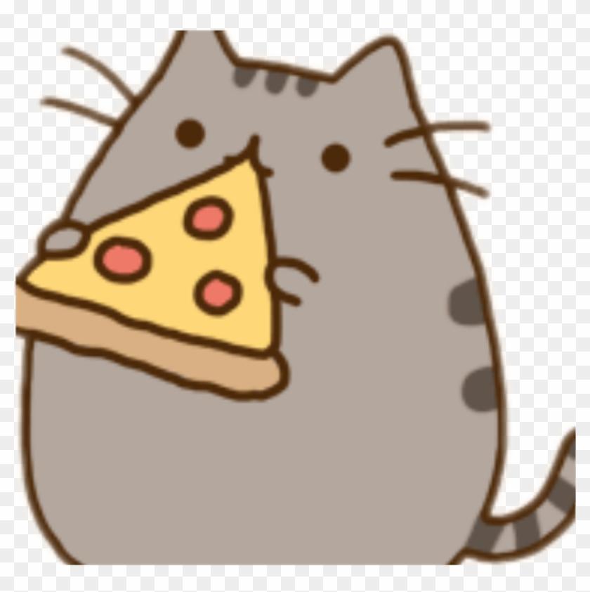 freetoedit pusheen pizza kawaii cute fat cat cartoon free