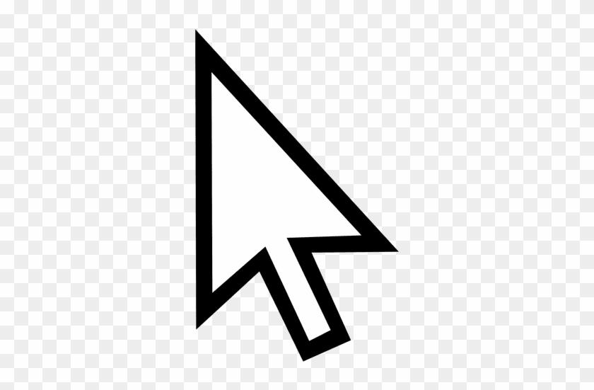 Arrow Outline Cursor Transparent Png - Mouse Cursor Draw #1191424