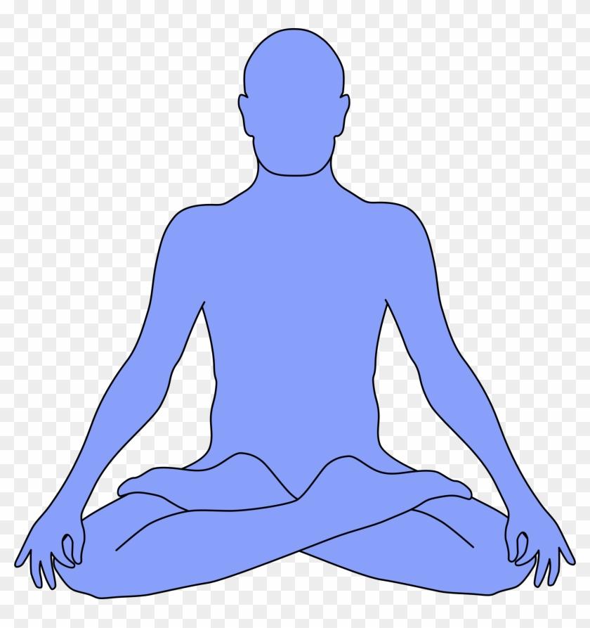 Meditation - Outline Of Person Meditating #1192136
