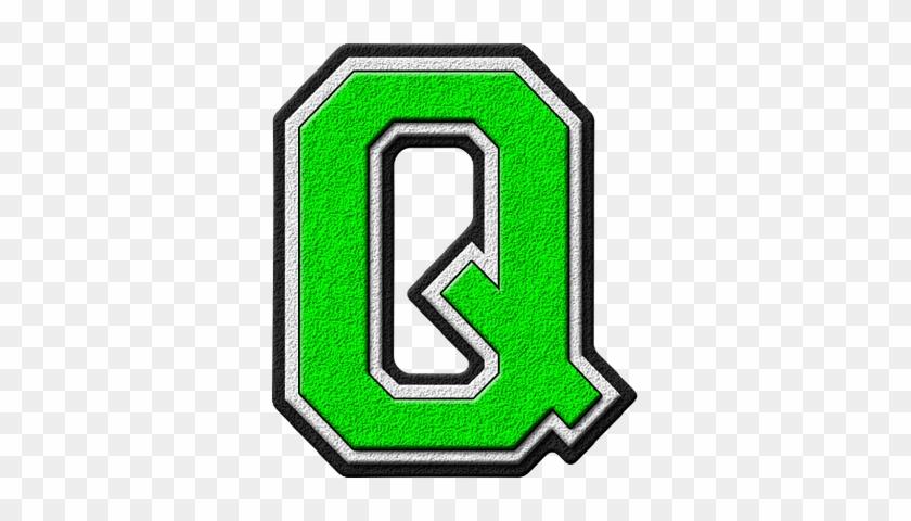 Q - Presentation Alphabet Set Forest Green Varsity Letter #1192652