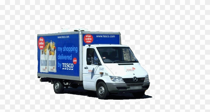 Number Of Tesco Online Orders Via Mobile Has Doubled - Tesco Delivery Van Png #1192761