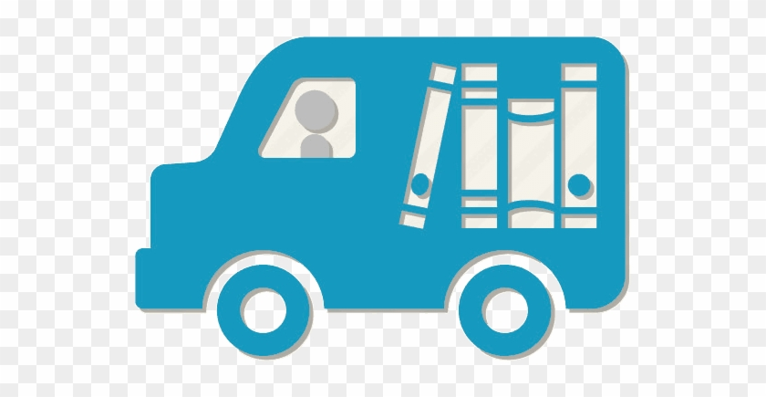 Mylibrary & Delivery/ill Accounts - Books Delivery Van Png #1192765