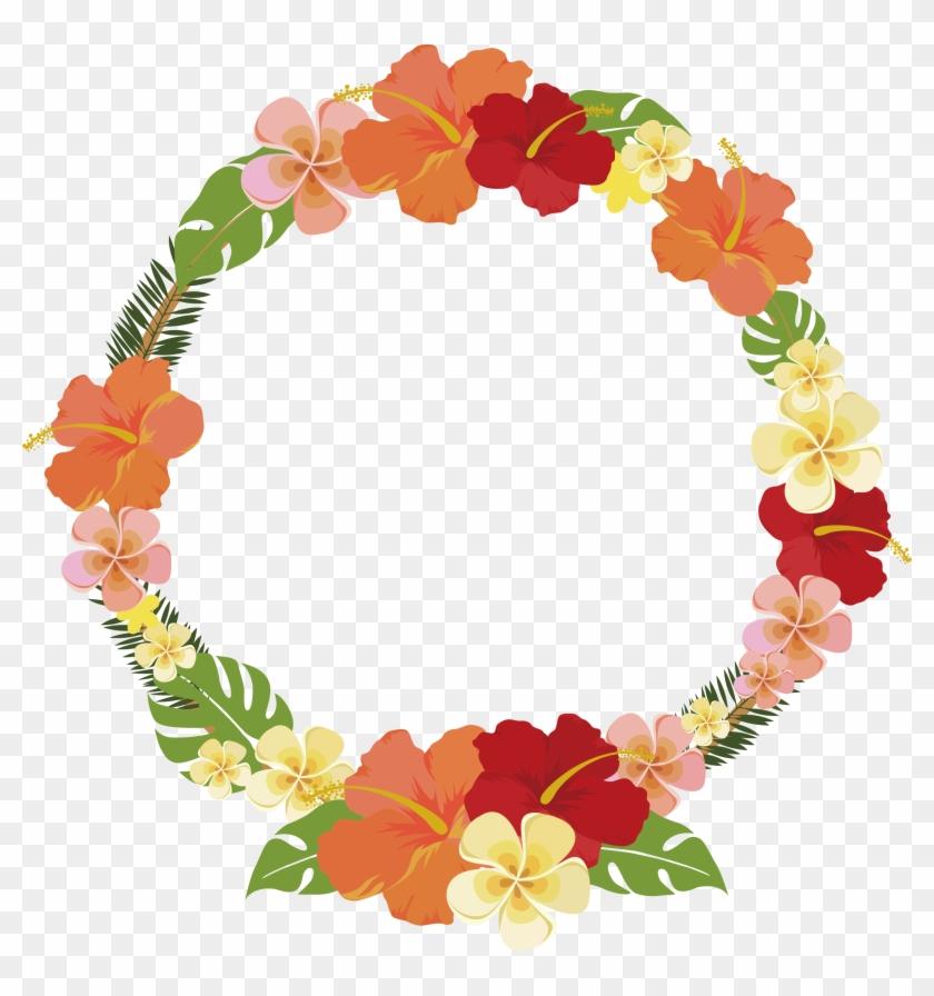 Round Summer Flower Decorative Frame 2547*2597 Transprent - Flower Circle Frame Vector #1193110