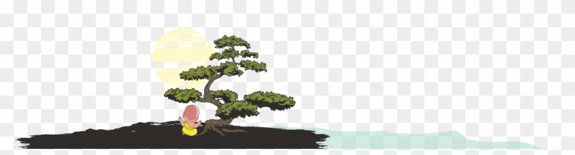 Footer Image - - Bonsai Tree - Brown On Light Throw Blanket #1193664