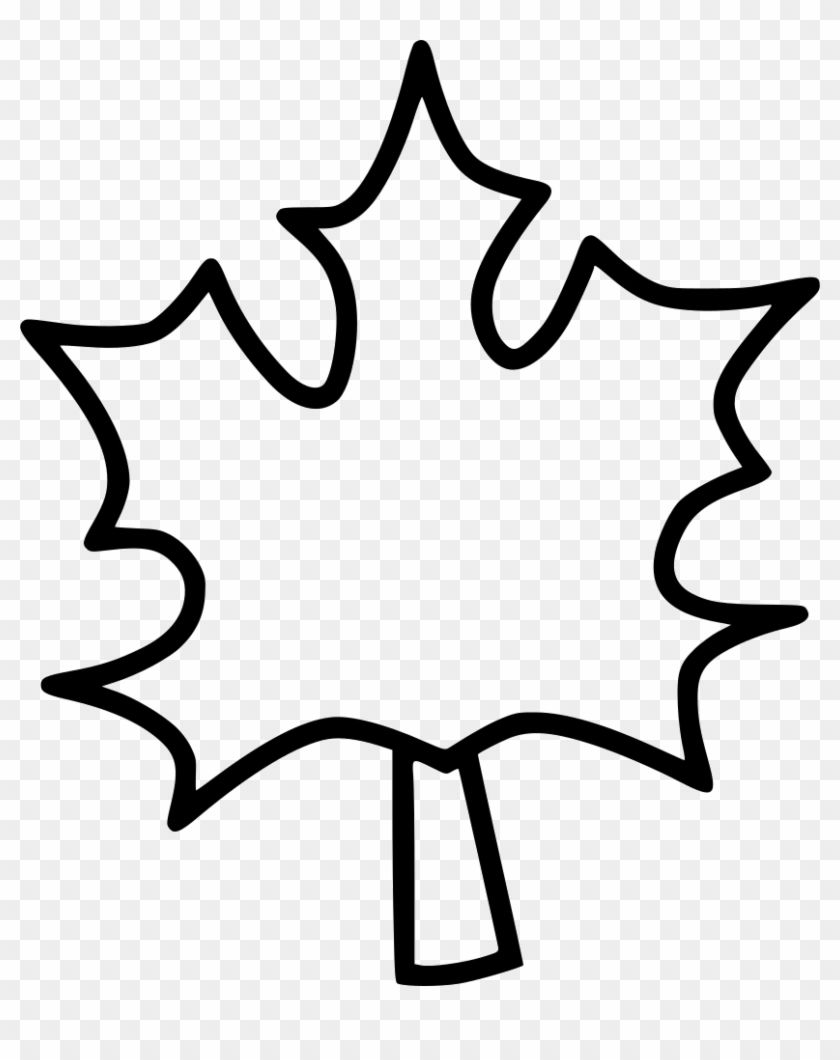 Maple Leaf Leaves Autumn Dry Tree Svg Png Icon Free - Coloring Book #1193905