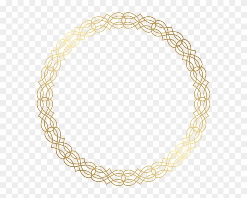 Round Gold Border Transparent Png Clip Art Image - Gold Circle Border Png #1194209