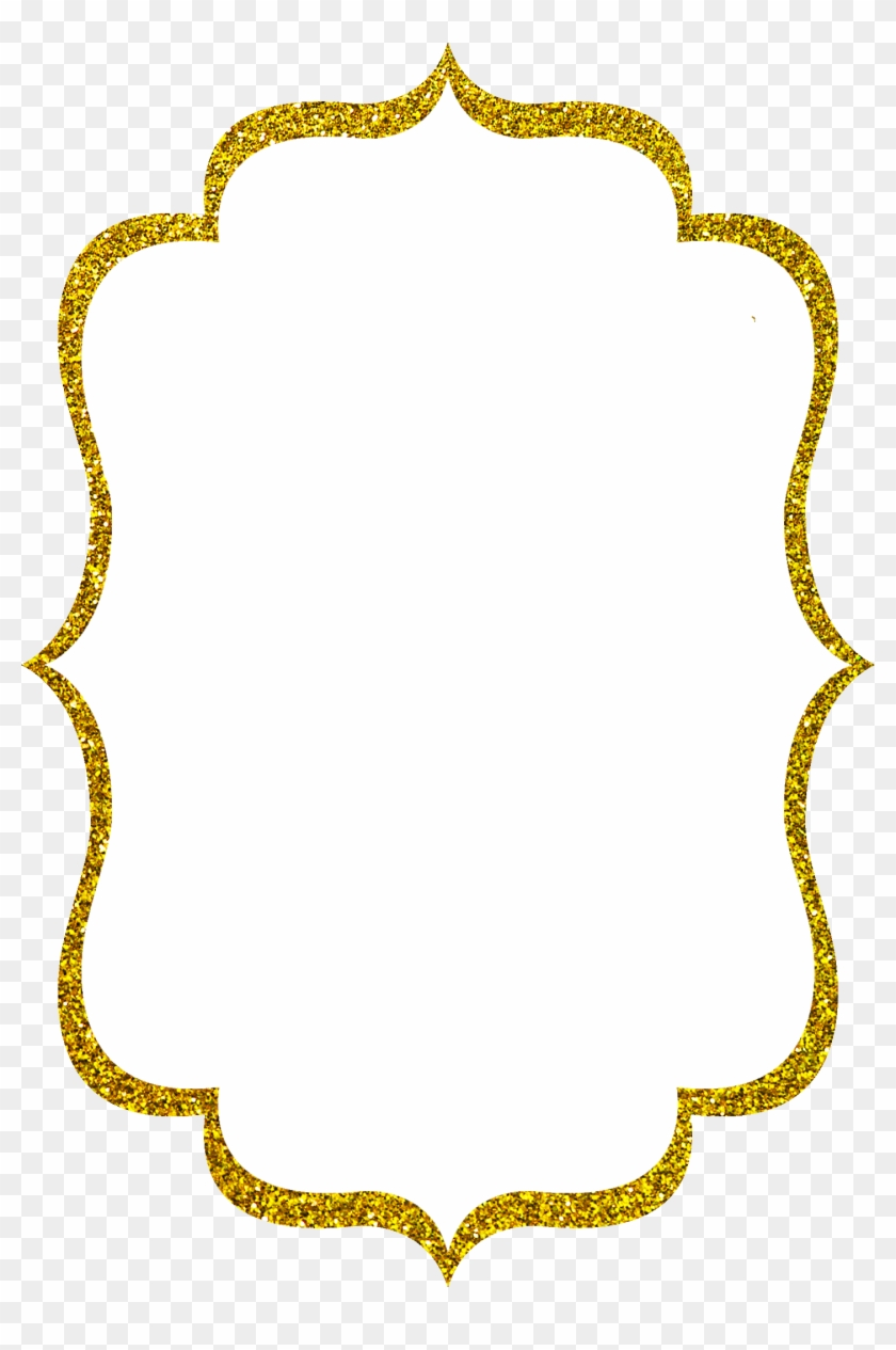 Black And Gold Frame Png Ornate Png Borders Pictures - Gold Glitter Frame Png #1194304
