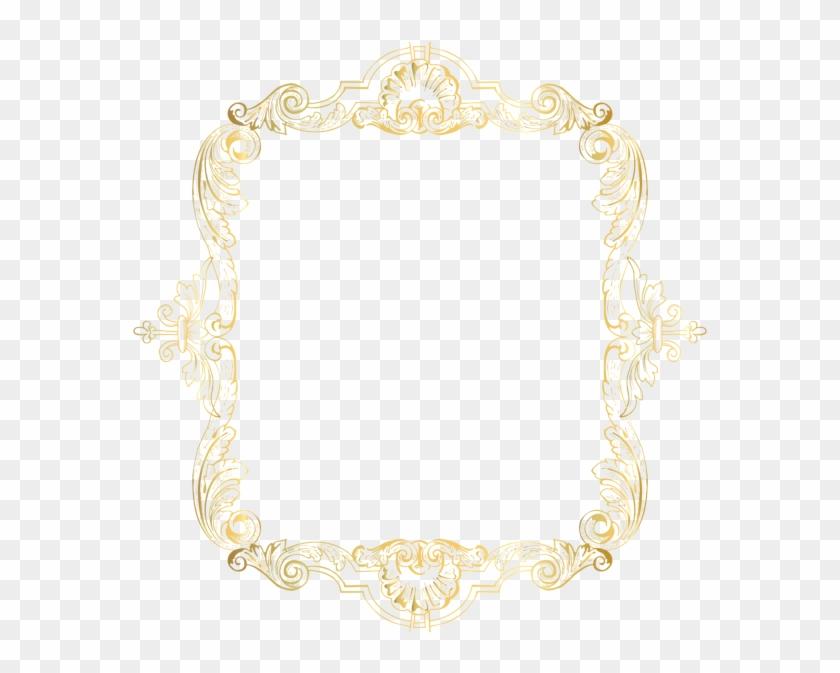 Vintage Border Frame Gold Clip Art Png Image Gallery - Motif #1194310