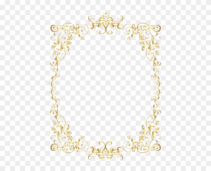 Border Gold Decorative Frame Png Clip Art - Ornamental Frame Png Gold #1194356