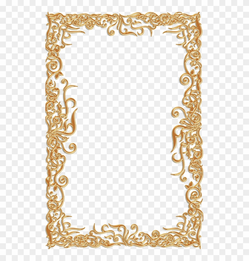 Transparent Vintage Borders And Frames Gold Clipart - Gold Potrait Border Png #1194393