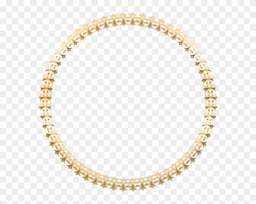 Round Border Frame Gold Transparent Png Image - Gold Oval Frame Png #1194411