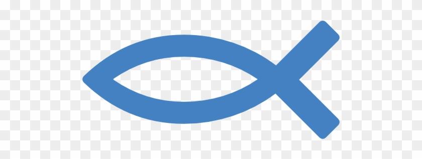 210 - 635 - - Christian Fish Symbol Blue #1194635