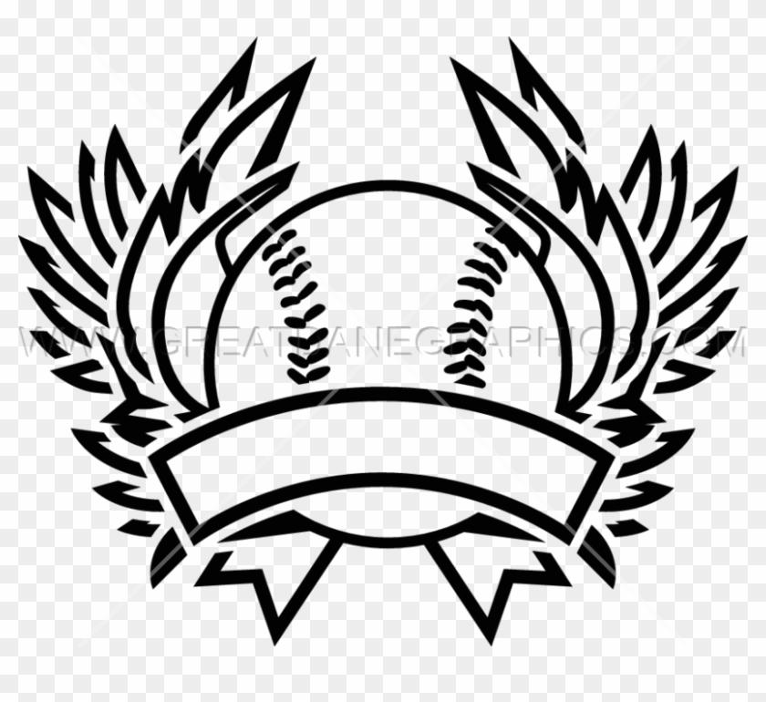 Baseball Metal Crest