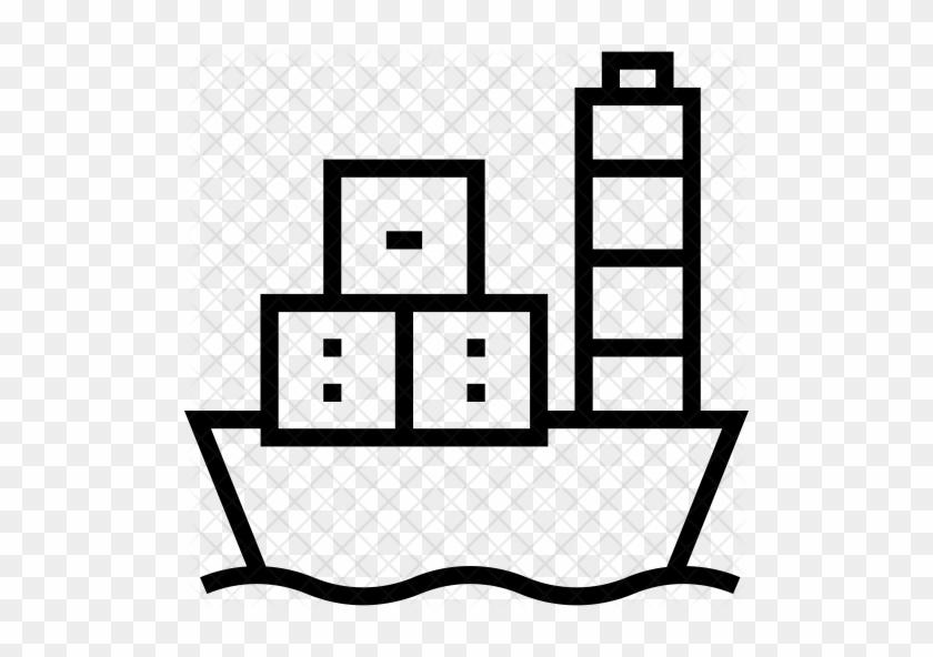Cargo Ship Icon - Cargo Ship #1195104