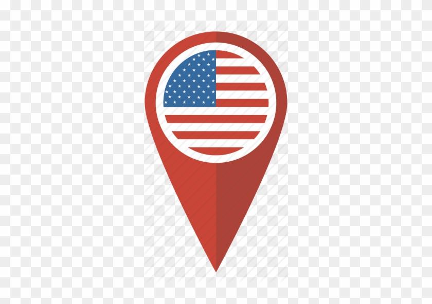 Usa Canada Flag Icon - Usa Flag Pin Map - Free Transparent ...